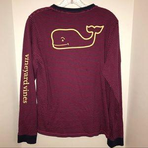 Vineyard Vines long sleeve, striped t-shirt